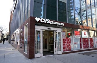 NEW YORK, NEW YORK - MARCH 26: An exterior view of CVS pharmacy as the coronavirus continues to spread across the United States on March 26, 2020 in New York City. The World Health Organization declared coronavirus (COVID-19) a global pandemic on March 11th.   Cindy Ord/Getty Images/AFP