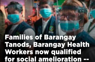 The Department of Interior and Local Government (DILG) announced that barangay tanods and health workers are qualified to receive financial aid under the government's Social Amelioration Program, as most of them are head of the family, live below the poverty line, and receive only more or less P1,000 allowance from the barangay. (Courtesy: DILG)