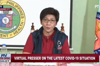 Health Undersecretary Maria Rosario Vergeire holds a virtual presser on the coronavirus situation in the country on Sunday, April 5, 2020. (Screesnshot of DOH virtual presser/Courtesy DOH Facebook)