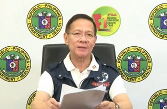 Health Secretary Francisco Duque III holds a virtual presser on the coronavirus situationer in the country on Thursday, April 2, 2020.  (Screenshot from DOH Facebook page/Courtesy DOH Facebook)