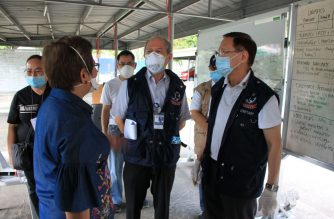 Health Secretary Francisco Duque III visits some of the  designated COVID-19 referral centers and quarantine facilities on Thursday, April 2, 2020.  Photo courtesy DOH