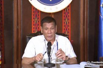 President Rodrigo Duterte addresses the nation once again on Friday night, April 3, 2020.  (Screenshot of RTVM video/Courtesy RTVM)