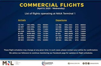 MIAA releases list of operational commercial flights