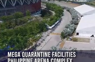 Screenshot of aerial shot of Ciudad de Victoria quarantine facilitiy for COVID-19 from video posted in DPWH facebook page. (Courtesy DPWH)