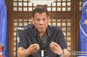 "President Rodrigo Duterte address the nation once again on Monday night, April 6, 2020, telling Filipinos, ""We are inclined to extend the lockdown until April 30."" (Screenshot from RTVM video/Courtesy RTVM/ PCOO)"