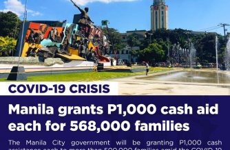 (Courtesy: Manila Public Information Office) - Around 568,000 families in Manila will receive P1,000 cash assistance from the city government beginning Tuesday, April 7.  Manila Mayor Francisco Domagoso signed Ordinance No. 8625, or the City Amelioration Crisis Assistance Fund, which authorized the allocation of P591 million to barangay-identified beneficiaries to cushion the effect of COVID-19 crisis.