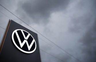 "(FILES) In this file photo taken on November 4, 2019 the logo of German car maker Volkswagen (VW) is pictured at the car factory in Zwickau, eastern Germany. - The first German mega-trial against Volkswagen linked to the scandal of rigged diesel engines known as ""dieselgate"", involving hundreds of thousands of customers, formally ended on April 30, 2020 after an out-of-court settlement that is expected to cost the manufacturer more than 750 million euros. (Photo by RONNY HARTMANN / AFP)"