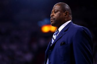 MIAMI, FL - MAY 01: Assistnat Coach Patrick Ewing of the Charlotte Hornets looks on during Game Seven of the Eastern Conference Quarterfinals of the 2016 NBA Playoffs against the Miami Heat at American Airlines Arena on May 1, 2016 in Miami, Florida. NOTE TO USER: User expressly acknowledges and agrees that, by downloading and or using this photograph, User is consenting to the terms and conditions of the Getty Images License Agreement   Mike Ehrmann/Getty Images/AFP