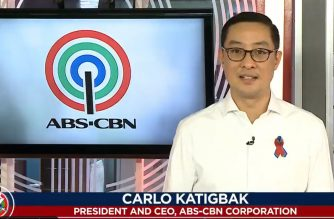 ABS-CBN President and CEO Carlo Katigbak gives his video statement before the media network signed off on Tuesday night, May 5, 2020.  (Screengrab of ABS-CBN video on TV Patrol/Courtesy ABS-CBN)