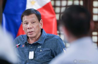 (File photo) President Rodrigo Roa Duterte holds a meeting with members of the Inter-Agency Task Force on the Emerging Infectious Diseases (IATF-EID) at the Malago Clubhouse in Malacañang on May 11, 2020. ACE MORANDANTE/PRESIDENTIAL PHOTO