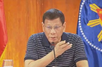 "President Rodrigo Duterte ""talks to the nation"" after presiding over a meeting of the Inter-Agency Task Force on Emerging Infectious Diseases (IATF-EID) that lasted until past midnight Tuesday, May 26, 2020. (Scireengrab from PCOO video/Courtesy PCOO)"
