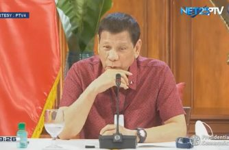 President Rodrigo Duterte addresses the Filipino nation on Thursday night, May 28, 2020. (Courtesy PCOO)