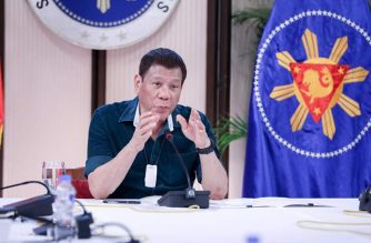 President Duterte presides over an IATF meeting on Monday, May 4./PCOO/