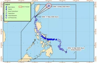 "Signal No. 1 still over Batanes as ""Ambo"" slightly accelerates"