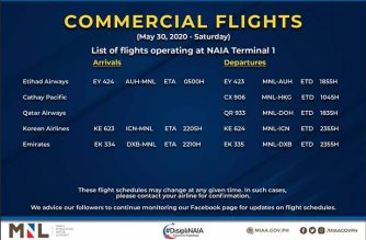 MIAA releases list of operational commercial flights for Saturday, May 30
