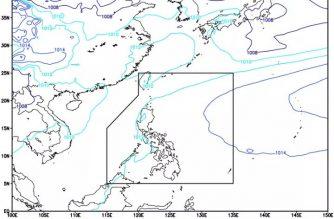 Easterlies affecting Palawan, Visayas, Mindanao