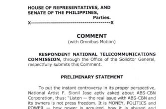 """The NTC called ABS-CBN's petition for certiorari and prohibition """"improper"""" and """"premature"""" in its comment to the media company's petition against the NTC order shutting down several of the media company's radio and television operations."""