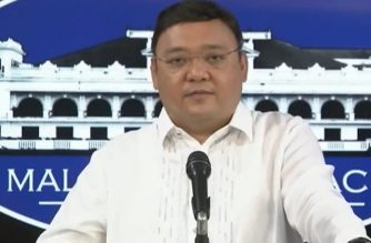 Presidential Spokesperson Harry Roque holds a virtual presser on Monday, May 11, 2020 (Screengrab of PCOO Video/Courtesy PCOO)