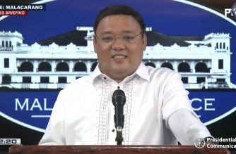 President Harry Roque holds a virtual presser on Tuesday, May 26, 2020.  (Screengrab from PCOO/Courtesy PCOO)