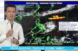 "More areas under Signal no. 1 as ""Ambo"" approaches E. Visayas-Bicol area"