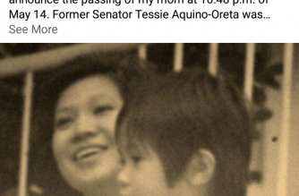 Former Senator Tessie Aquino-Oreta passes away