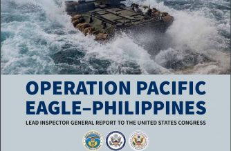 Screenshot of cover page of US Lead Inspector General for Operation Pacific Eagle-Philippines I Quarterly Report to the United States Congress.  (Courtesy US Departement of Defense/https://media.defense.gov/)