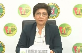 Health Undersecretary Maria Rosario Vergeire conducts a virtual press briefing on the COVID-19 situation in the country.  (Courtesy DOH)