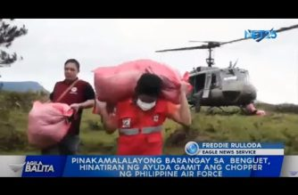 Air Force helicopter helps transport food assistance to far-flung bgys in Benguet
