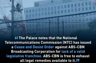 Presidential Spokesperson Harry Roque says ABS-CBN is free to exhaust all available legal remedies, in view of the cease-and-desist order issued by the National Telecommunication Commission (NTC) upon the expiration of its franchise. (Courtesy: Presidential Spokesperson Harry Roque)