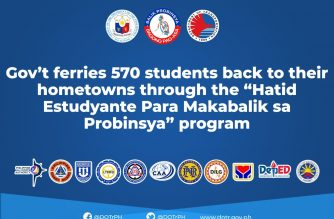 DOTr: 570 students ferried back to provinces under gov't's Hatid Estudyante program