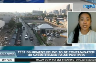 Test equipment found to be contaminated; 40 cases yielded false positives