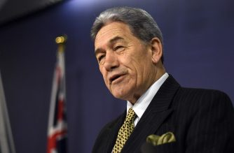 New Zealand foreign minister Winston Peters speaks at a joint press conference with Australia's counterpart Marise Payne in Sydney on October 4, 2019. (Photo by Saeed KHAN / AFP)