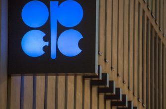 (FILES) In this file photo taken on November 29, 2016, the logo of OPEC is pictured at the OPEC headquarters on the eve of the 171th meeting of the Organization of the Petroleum Exporting Countries in Vienna, Austria. - OPEC members led by Saudi Arabia and other key oil producers agreed on June 6, 2020 to extend historic output cuts through July, according to the United Arab Emirates Energy Minister Suhail al-Mazrouei. (Photo by JOE KLAMAR / AFP)