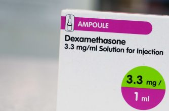 "A box of dexamethasone injection ampoules is photographed at a chemists shop in London on June 16, 2020. - The steroid dexamethasone was shown Tuesday to be the first drug to significantly reduce the risk of death among severe COVID-19 cases, in trial results hailed as a ""major breakthrough"" in the fight against the disease. (Photo by Arman SOLDIN / AFP)"