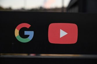 (FILES) In this file photo taken on November 21, 2019 the Google and YouTube logos are seen at the entrance to the Google offices in Los Angeles, California. - A lawsuit filed on June 16, 2020, in federal court accuses YouTube of discriminating against African American video makers and viewers by factoring in race when it comes to filtering or monetizing content. (Photo by Robyn Beck / AFP)