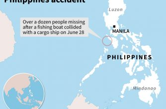 14 missing after Philippines sea collision