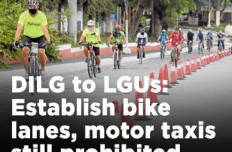DILG tells LGUs: Build bike lanes