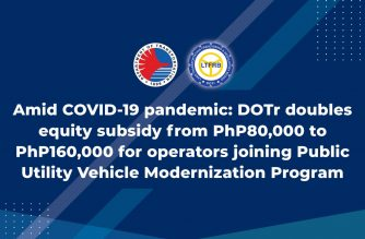DOTr doubles equity subsidy for operators, drivers participating in PUV modernization program
