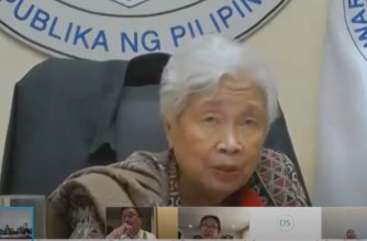 Education Secretary Leonor Briones answering questions during the Senate hearing on Thursday, June 11, 2020 on how the COVID-19 pandemic will affect the education system. (Screengrab from Senate hearing/Courtesy Senate Youtube)