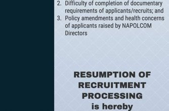 PNP postpones resumption of recruitment process