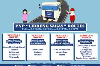 The PNP has expanded its Libreng Sakay program to help commuters in Metro Manila./PNP/