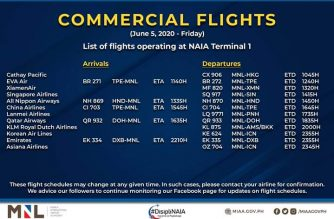MIAA releases list of operational commercial flights for Friday, June 5