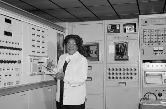 Mary Jackson working at NASA Langley, June 2, 1977 (Photo by NASA/https://www.nasa.gov/content/mary-jackson-biography)