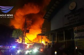 The fire that struck a residential area in Mandaluyong early Saturday, June 6, left at least one person dead and damage to property worth around P500,000./Albert Pagaduan/Eagle News/