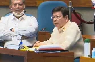 House Deputy Speaker Rodante Marcoleta during the June 29, 2020 hearing on the ABS CBN franchise renewal conducted by the House Committee on Legislative Franchises jointly withthe Committee on Good Government and Public Accountability.