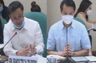 Combo photo of Senators Francis Tolentino and Sherwin Gatchalian questioning Department of Education officials during the hearing on Thursday, June 25, 2020 (Eagle News Service)