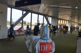 The DFA welcomed on Wednesday, June 3, 274 Filipinos upon their arrival from the United Arab Emirates./DFA/
