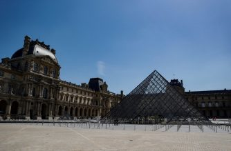 """A picture taken on June 23, 2020 shows the Louvre pyramid by Chinese architect Ieoh Ming Pei, the entrance to the Louvre Museum in Paris. - The Louvre museum will reopen its doors on July 6, 2020, after months of closure due to lockdown measures linked to the COVID-19 pandemic, caused by the novel coronavirus. The coronavirus crisis has already caused """"more than 40 million euros in losses"""" at the Louvre, announced its president and director Jean-Luc Martinez, who advocates a revival through """"cultural democratization"""" and is preparing a """"transformation plan"""" for the upcoming Olympic Games in 2024. (Photo by THOMAS SAMSON / AFP) / RESTRICTED TO EDITORIAL USE - MANDATORY MENTION OF THE ARTIST UPON PUBLICATION - TO ILLUSTRATE THE EVENT AS SPECIFIED IN THE CAPTION"""