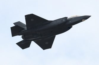 (FILES) In this file photo taken on October 14, 2018 shows an F-35A fighter aircraft of the Japan Air Self-Defense Force taking part in a military review at the Ground Self-Defence Force's Asaka training ground in Asaka, Saitama prefecture. - The United States announced July 9 that it has approved the sale of 105 F-35 stealth aircraft to Japan for an estimated $23.11 billion. (Photo by Kazuhiro NOGI / AFP)