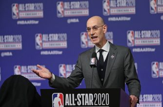 CHICAGO, IL - FEBRUARY 15: NBA Commissioner, Adam Silver speaks to the media at a press conference during NBA All-Star Saturday Night Presented by State Farm as part of 2020 NBA All-Star Weekend on February 15, 2020 at United Center in Chicago, Illinois. NOTE TO USER: User expressly acknowledges and agrees that, by downloading and/or using this Photograph, user is consenting to the terms and conditions of the Getty Images License Agreement. Mandatory Copyright Notice: Copyright 2020 NBAE   Joe Murphy/NBAE via Getty Images/AFP
